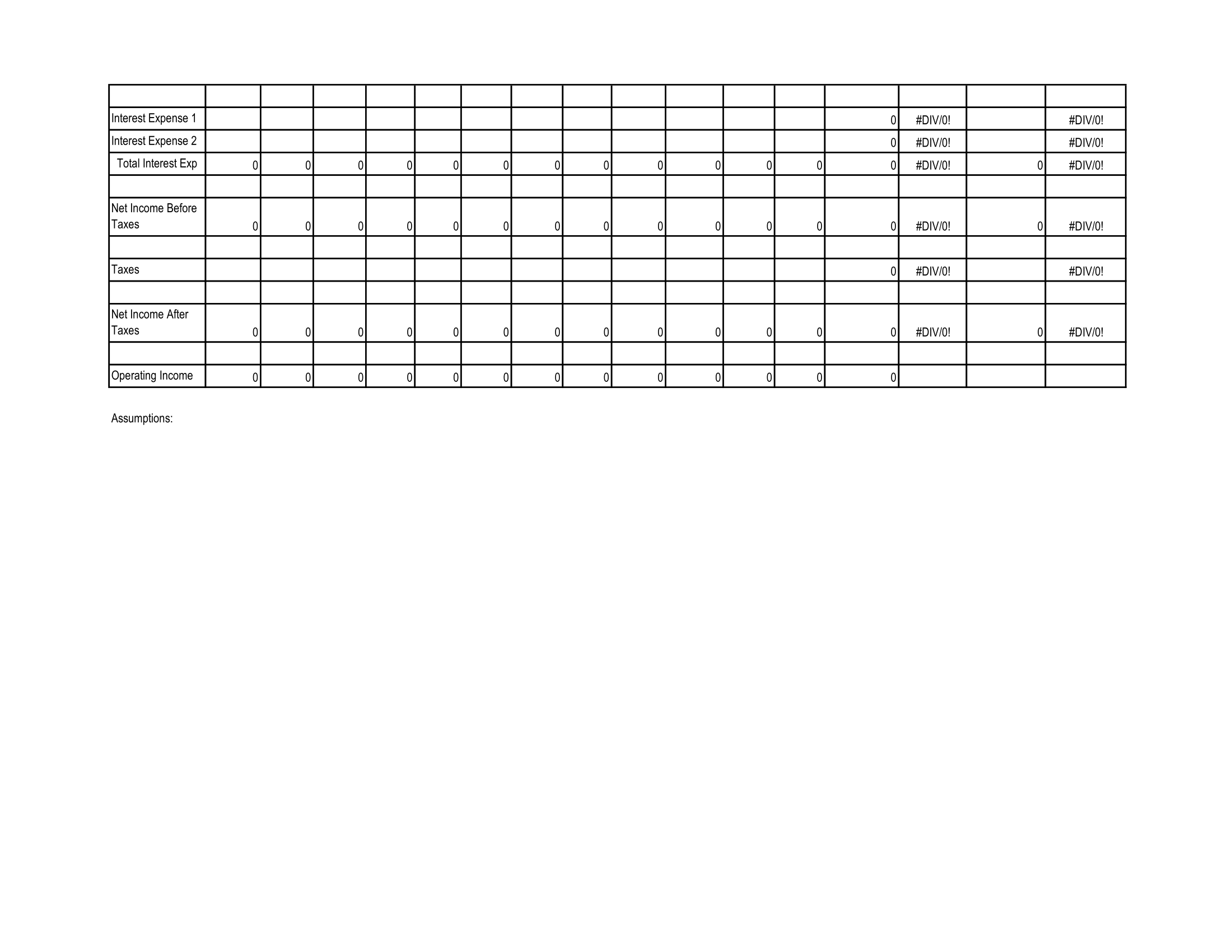 sba projection template